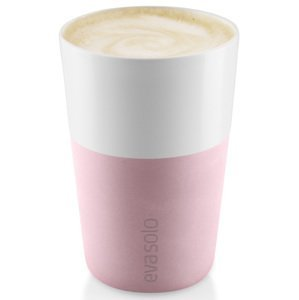 Hrnky na latte 360 ml set 2 kusů růženínové Eva Solo