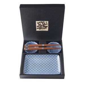 Made in Japan Sushi set Geometric Flowers 6 ks