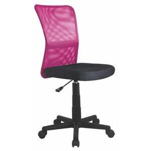 Dětská sítovaná židle Dingo, růžová/černá