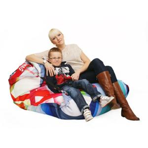 BeanBag Designový sedací vak 189x140 grafic s popruhy