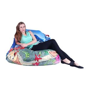 BeanBag Designový sedací vak 189x140 Sea World s popruhy
