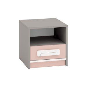 Noční stolek IQ 13 Barva nábytku: Pudrová