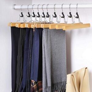 Dřevěná ramínka na kalhoty 12 ks