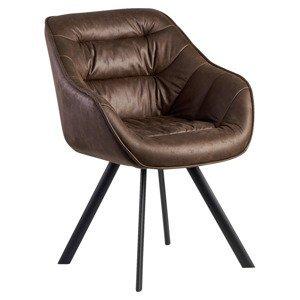 Židle S Područkami Wohnling Hnědá