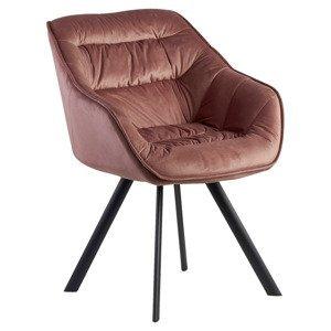 Židle S Područkami Wohnling Růžová