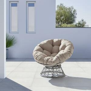 Garten-relaxsessel Altona In Grau/naturfarben