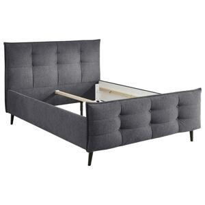 Čalouněná postel Mario B Antracit 140x200 Cm