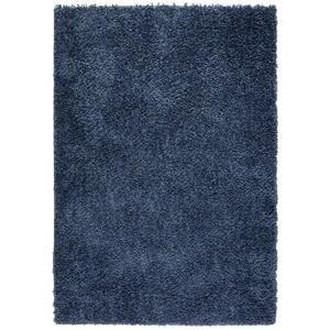 koberec s Vysokým Vlasem simon 1, 120/170cm, Modrá