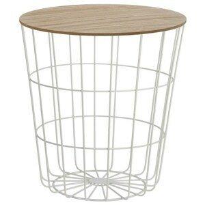 Sconto Přístavný stolek REGART 2 překližka/bílá