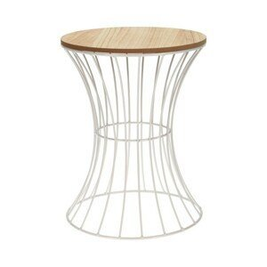 Sconto Odkládací stolek RAMON bílá/přírodní