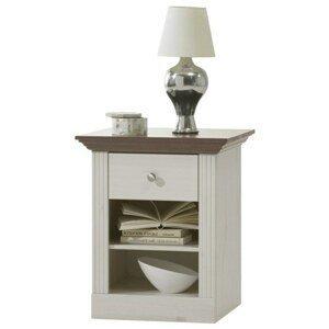 Sconto Noční stolek MONACO 001 borovice bílá