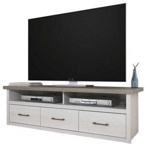 Sconto TV stolek PARVATI pinie bílá/dub truffel