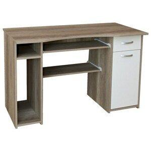 Sconto PC stůl LINDA dub sonoma/bílá