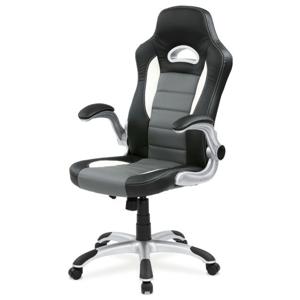 Sconto Kancelářská židle ROBERT černá/šedá