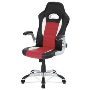 Sconto Kancelářská židle ROBERT černá/červená