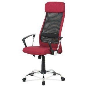 Sconto Kancelářská židle EDISON červená