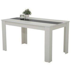 Sconto Jídelní stůl MAREIKE T bílo-černá