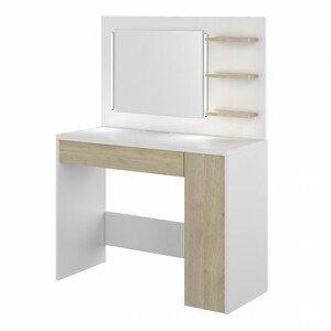 Sconto Toaletní stolek GLAMOUR dub/bílá