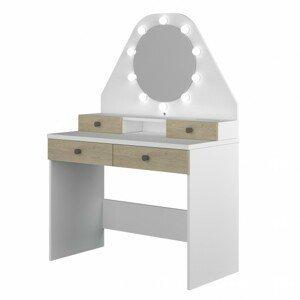 Sconto Toaletní stolek STARLET dub/bílá