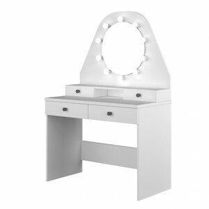 Sconto Toaletní stolek STARLET bílá
