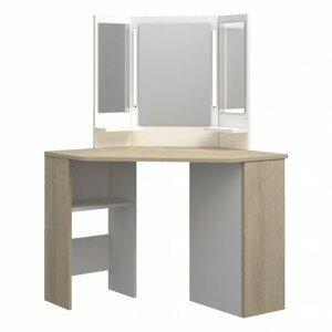 Sconto Toaletní stolek CHIC dub/bílá
