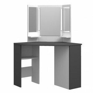 Sconto Toaletní stolek CHIC šedá/bílá
