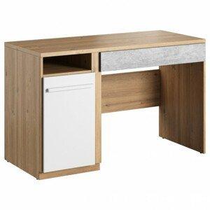 Sconto Psací stůl PLANO 06 dub nash/bílá/beton