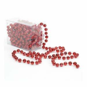 Dekorativní řetěz v červené barvě Unimasa Balls, délka5m