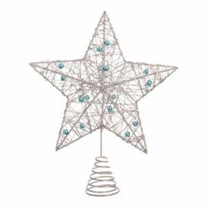 Hvězda na stromeček ve stříbrné barvě Unimasa Star