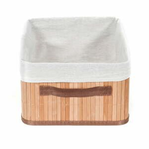 Hnědý úložný bambusový koš Compactor Carossa