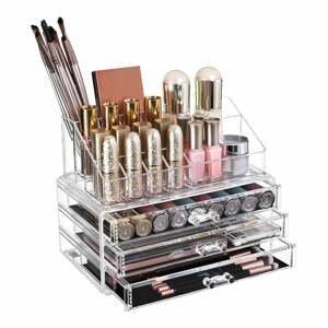 Transparentní akrylový organizér se 4 zásuvkami na šperky a kosmetiku Songmics
