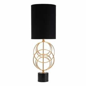 Černá stolní lampa Mauro Ferretti Circly,výška65cm