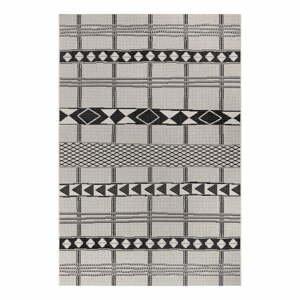 Černo-šedý venkovní koberec Ragami Madrid, 120 x 170 cm
