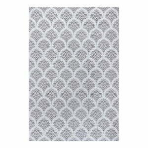 Černo-šedý venkovní koberec Ragami Moscow, 200 x 290 cm