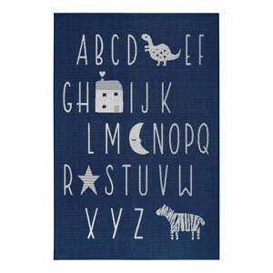 Modrý dětský koberec Ragami Letters, 80 x 150 cm