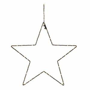 Černá vánoční závěsná světelná dekorace Markslöjd Alpha Star,výška45 cm