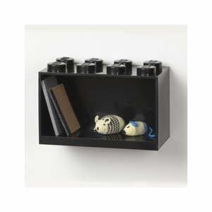 Dětská černá nástěnná police LEGO® Brick 8
