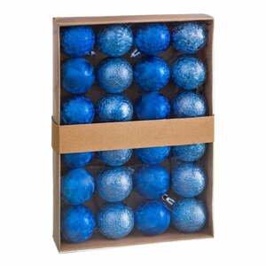 Sada 24 vánočních ozdob v modré barvě Unimasa Aguas, ø 4 cm