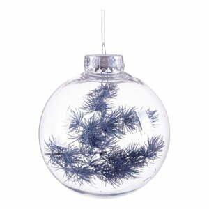 Vánoční ozdoba s tmavě modrými detaily Unimasa, ø 8 cm