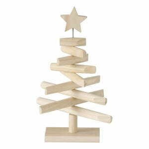 Dřevěný dekorativní vánoční stromeček Boltze Jobo, výška 37 cm