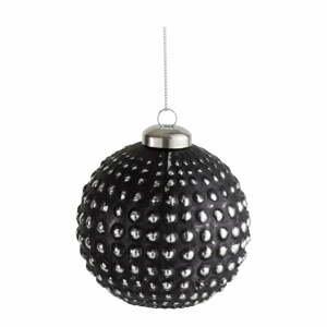 Sada 4 černých skleněných vánočních ozdob J-Line Ball
