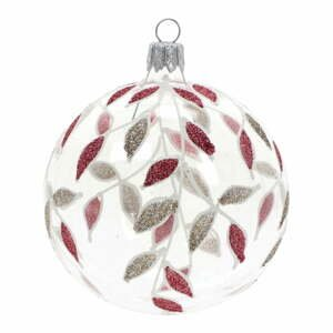 Sada 3 skleněných vánočních ozdob ve zlato-červené barvě Ego Dekor