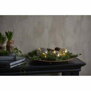 Šedá vánoční světelná LED dekorace Star Trading Triss