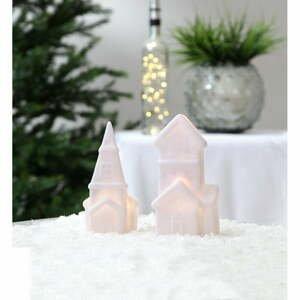 Sada 2 bílých vánočních světelných LED dekorací Star Trading Polly