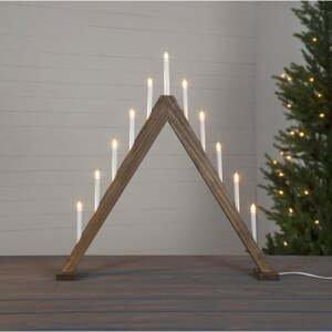 Hnědý vánoční LED svícen Star Trading Trill