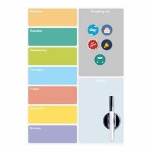 Magnetická tabule na lednici Balvi Week Planner