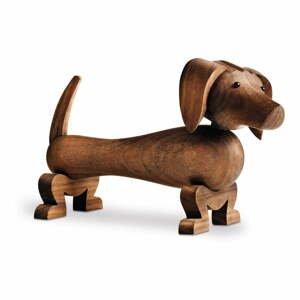 Soška z masivního ořechového dřeva Kay Bojesen Denmark Dog
