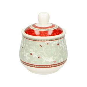 Porcelánová cukřenka s vánočním motivem Brandani Zuccheriera Connubio