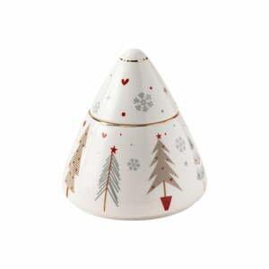 Porcelánová cukřenka s vánočním motivem Brandani Fiocco, ⌀ 10,5 cm