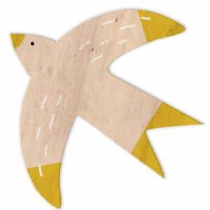 Sada 3 dřevěných nástěnných dekorací Little Nice Things Birds